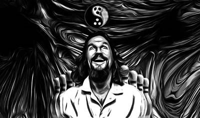 The Dude B W Poster by Rob Hans