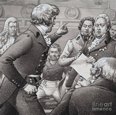 The Duke Of Cumberland, Shown Clashing In Public With His Brothers Poster by Pat Nicolle