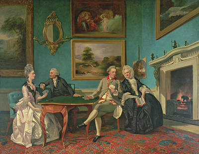 The Dutton Family In The Drawing Room Of Sherborne Park, Gloucestershire Poster by Johann Zoffany