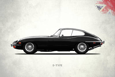 The E Type Poster by Mark Rogan