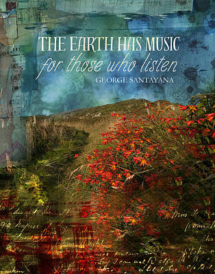 The Earth Has Music Poster by Catherine Jones