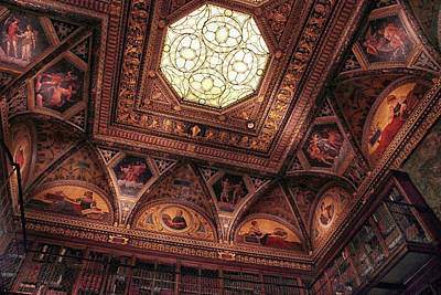 Poster featuring the photograph The East Room Ceiling by Jessica Jenney