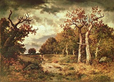 The Edge Of The Forest Poster by Narcisse Virgile Diaz de la Pena