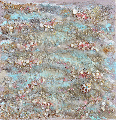 The Edge Of The Sea Poster by Donna Blackhall