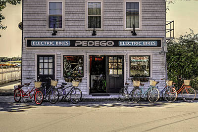 Poster featuring the photograph The Electric Bike Shop Bristol Ri by Tom Prendergast