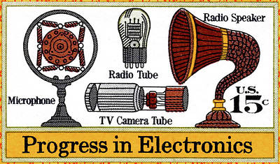 The Electronic Components Stamp Poster