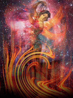 The Elements Fire Poster by Debra and Dave Vanderlaan
