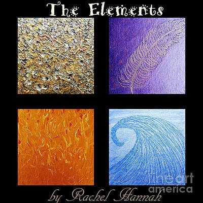 The Elements Poster by Rachel Hannah