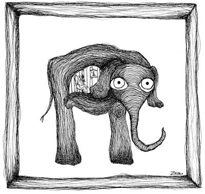 The Elephant And The Frenchman Poster