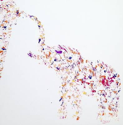 The Elephant Sucked In All The Colour Poster