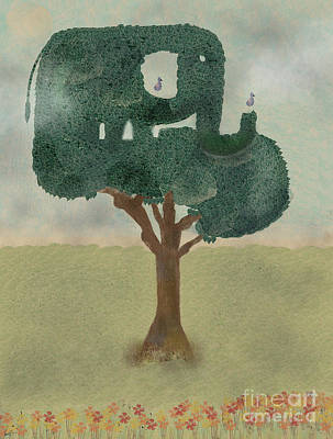 Poster featuring the painting The Elephant Tree by Bri B