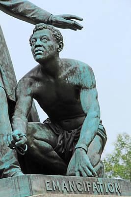 The Emancipated Slave At The Emancipation Memorial Poster