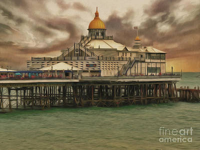 Poster featuring the photograph The End Of The Pier Show by Leigh Kemp