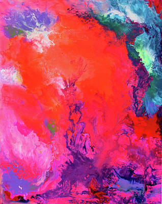 The Energy Of Summer - Big Abstract Print Art Poster