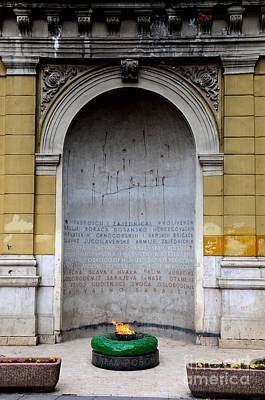 The Eternal Flame Or Vjecna Vatra Dedicated To Victims Of World War Two Sarajevo Bosnia Hercegovina Poster by Imran Ahmed