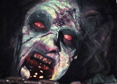 The Evil Dead Poster by Taylan Apukovska