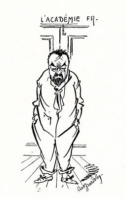 The Exclusion Of Emile Zola From The Academie Francaise Poster by Aubrey Beardsley