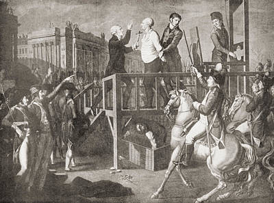 The Execution Of Louis Xvi, 21 January Poster by Vintage Design Pics