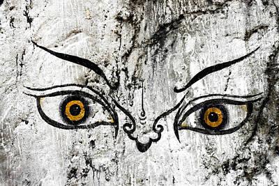 The Eyes Of Guru Rimpoche  Poster by Fabrizio Troiani