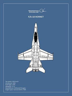 The F-18 Hornet Poster by Mark Rogan