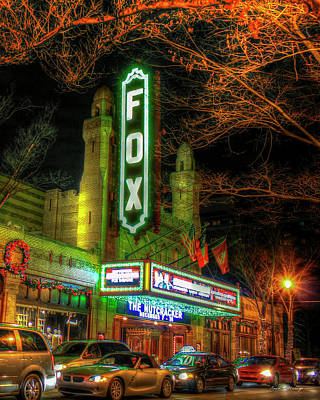 The Fabulous Fox Theatre Atlanta Georgia Art Poster by Reid Callaway