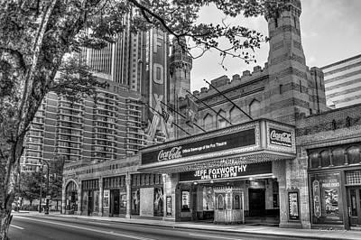 The Fabulous Fox Theatre Bw Atlanta Georgia Art Poster by Reid Callaway