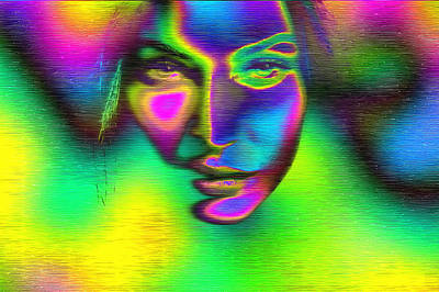 The Face Of Illumination Poster by Mario Carini