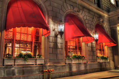 Poster featuring the photograph The Fairmont Copley Plaza Hotel - Boston by Joann Vitali