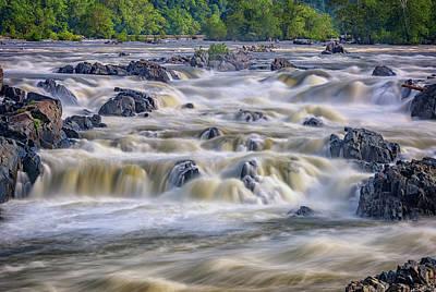 The Falls At Great Falls Park Poster by Rick Berk