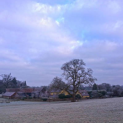 The Farm In Winter Poster