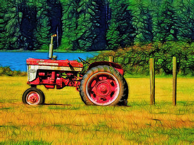 The Farmall 240 Poster by Tim Coleman