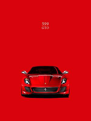 The Ferrari 599 Gto Poster by Mark Rogan