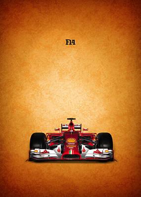 The Ferrari F14 Poster by Mark Rogan