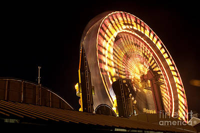 Poster featuring the photograph The Ferris Wheel by David Bishop