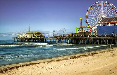 The Ferris Wheel - Santa Monica Pier Poster