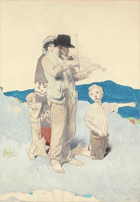 The Fiddler Poster by Sir William Orpen