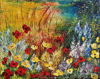 Poster featuring the painting The Field by Teresa Wegrzyn