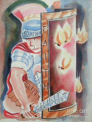 Poster featuring the painting The Fiery Darts Of The Evil One by Kip DeVore