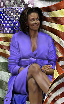 The First Lady-american Pride Poster by Reggie Duffie