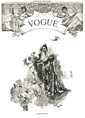 The First Vogue Cover, Vogue December 17, 1892 Poster