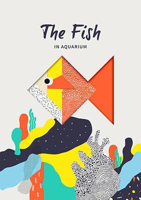 The Fish In Aquarium Poster