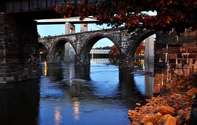 The Five Bridges - East Falls - Philadelphia Poster by Bill Cannon