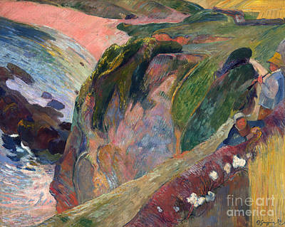 The Flageolet Player On The Cliff Poster by Gauguin