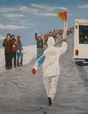 Poster featuring the painting the Flame by Betty-Anne McDonald