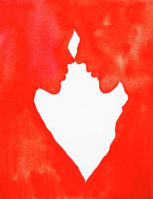The Flame Of Love Poster by Iryna Goodall
