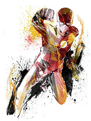 The Flash Poster by Unique Drawing