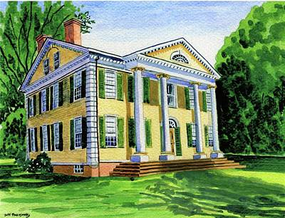 The Florence Griswold House In Old Lyme Ct. Poster by Jeff Blazejovsky