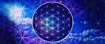 The Flower Of Life Poster by AJ Fortuna