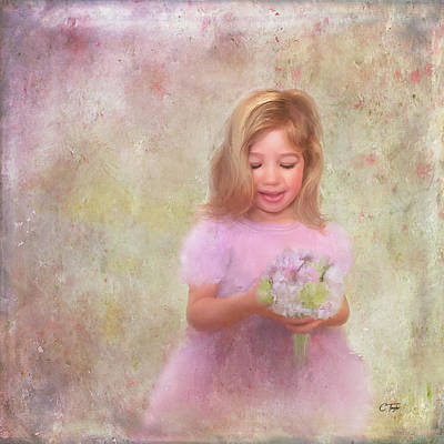 Poster featuring the mixed media The Flower Princess by Colleen Taylor