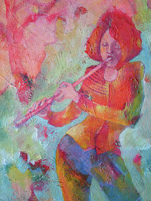 The Flute Player Poster by Susanne Clark